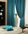 "Fully Lined Curtains,Semi Plain Design 3""Tape Top,In A Modern Teal Colour WOW!"