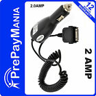2AMP In Car Charger for Apple iPhone 4 4s, 3G, 3GS, iPod Touch Nano