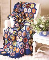 Vintage Paperweight Granny Afghan/Throw Crochet Pattern