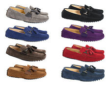 MENS FAUX SUEDE MOCCASIN/LOAFERS WITH TASSEL DESIGN AND COMFORT/DRIVING SOLE6-11
