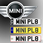 MINI, BMW, Number Plates, Show Plates, CAR PLATES.
