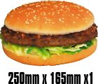 BIG Exterior Catering BURGER Decal Cut Printed UV Laminated Food Sticker