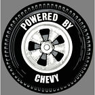 Power By CHEVY Wheel Vintage Hot Rat Rod Drag Racing Decal Sticker