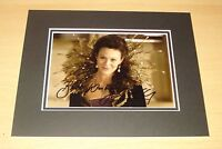 HELEN McCRORY HAND SIGNED 10x8 AUTOGRAPH PHOTO MOUNT DISPLAY DR DOCTOR WHO + COA