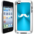 Light Blue Apple iPod Touch 4th Generation 4g Hard Case Cover B485 Mustache