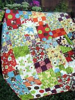 quick and easy QUILT PATTERN Fat Quarter friendly Baby, Lap, Twin, full, King