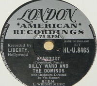 BILLY WARD AND THE DOMINOS STARDUST UK 78 RPM RECORD ~ ROCK 'N' ROLL ROCKABILLY