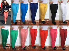 LADIES SKINNY FIT COLOURED STRETCH JEANS WOMENS JEGGINGS TROUSERS SIZE 8-18 J001