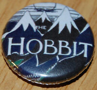 HOBBIT COVER 25MM BUTTON BADGE LORD OF THE RINGS JRR TOLKIEN LITERATURE BOOK