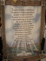 LORDS PRAYER RELIGIOUS TAPESTRY THROW AFGHAN BLANKET