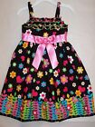 BNWT GIRLS COTTON FLORAL DRESS - SIZE 2 TO 10