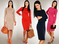 Classic & Sensible Women's Dress Cocktail Style Long Sleeve Size 8-14 FA68
