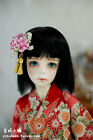King's shop WIG bjd SD 8-9 size for 1/3 doll black kimino style