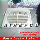 150mm inline fan +flex duct + Round Grill+Exhaust grill