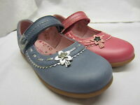 *SALE* Girls Startrite Shoes In Pink Or Blue Leather 'Ella' F & G Width Fitting