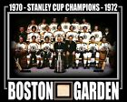 1970-72 BOSTON BRUINS STANLEY CUP CHAMPIONS PHOTO W/ BOSTON GARDEN RED #4 SEAT
