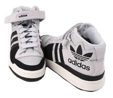 adidas Forum Mid RS XL Mens Grey/Black Suede/Leather Mid Top Athletic Sneakers