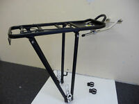 ALLOY Cycle Rear Pannier Rack with Sprung ClipNEW BLACK