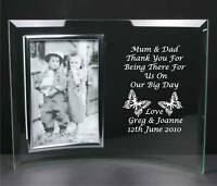Personalised Engraved Glass Photo Frame, Mother of the Groom/Bride Wedding Gift
