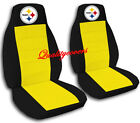 NICE SET PITTSBURGH CAR SEAT COVERS black/yellow,MORE COLORS&BACK SEAT AVBL