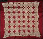 19C. ANTIQUE CROCHET DOILY HAND KNITTED TABLE COVER