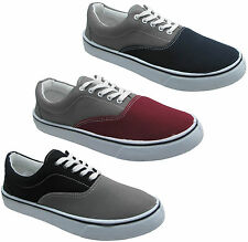 New Mens 2 Tone Vanz Style Unisex Canvas Shoes Causal Trainer Pump 7 8 9 10 11