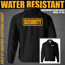 BLACK SECURITY JACKET **** Nylon Jacket **** Sizes S - 5XL **** Guard Uniform