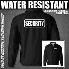 BLACK SECURITY JACKET ** Nylon Jacket ** Sizes S - 5XL ** Guard Bouncer Uniform