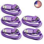 5 USB Data Charger Cable For Samsung Galaxy Tab 2 Note 10.1 8.9 7.0 Plus PURPLE