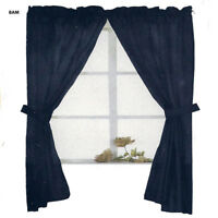"""Double Swag Fabric Window Curtain 58"""" x 55"""" 10 Colors"""
