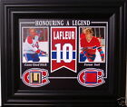 GUY LAFLEUR CANADIENS 8x10 W/ GAME USED STICK & MONTREAL FORUM RED SEAT FRAMED