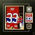 CAREY PRICE & PATRICK ROY RETIRING #33 8X10 PHOTO W/ ROY GAME USED STICK MATTED