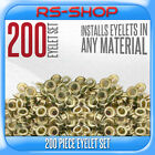 New 200 Brass Eyelets 4mm Inside & 8mm Outside - Hole Makers/Leather Craft