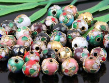 100Pcs Mixed Cloisonne Round Spacer Beads 6、8mm