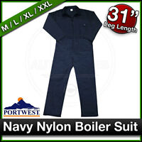 PORTWEST Boiler Suit Coverall NYLON Overall Boilersuit NAVY M / L / XL / XXL New