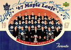 JOHNNY BOWER-RED KELLY-BOBBY BAUN AUTO/SIGNED 3x5 UD 1967 STANLEY CUP CHAMPIONS