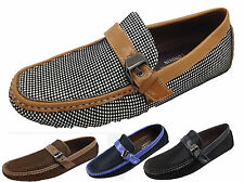 MENS DESIGNERINSPIRED LEATHER LOOK CLASSIC FORMAL/CASUAL MOCCASIN/LOAFERS  40-45