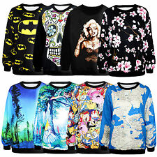 3D Womens Space Galaxy T shirt sweater Sweatshirt hoodie Pullover Tops Tracksuit