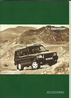LAND ROVER DISCOVERY ACCESSORIES SALES BROCHURES 1995