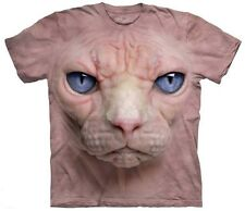 The Mountain Hairless Sphynx Cat face shir 00006000 t unisex mens and womens New