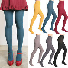Women Winter Warm Thick Ribbed Wool Blend Knit Sweater Footed Full Foot Tights