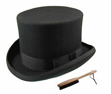 Quality Hand Made 100% Wool Top Hat Wedding Event Hat 6 Colours