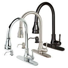 NEW Contemporary Kitchen Sink Faucet Pull-Out Spray Swivel Spout Dispenser Cover