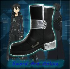 Japanese Anime Sword Art Online Gun Gale Online Kirito Cosplay Black Shoes Boots