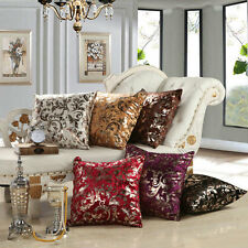 "Luxury Silver Floral Cushion Throw Pillow Case Cover Sofa Decor 18""x18"" 12Colors"