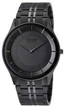 Citizen Eco-Drive Sapphire Black IP Stiletto Japan Watch AR3015-53E AR3015-61E
