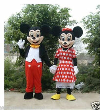 Mickey Minnie couple Mouse 2 mascot costume Fancy Dress / Disney, dance clothes