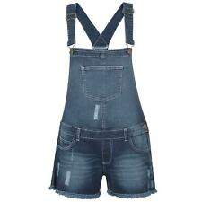 New Ladies Stretchable Dungaree Shorts Braces Hot Pants One Piece Women Playsuit