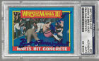 1987 TOPPS WWF JIMMY AND BRET HART DUAL SIGNED AUTO CARD #57 PSA/DNA