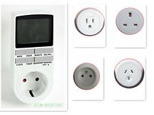 worldwide Plug in Programable Timer Switch 24h 7 Day week Digital LCD display